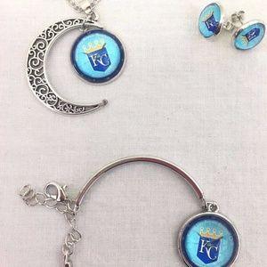 Jewelry - 3PC Bundle MLB Kansas City Royals Jewelry Set NEW